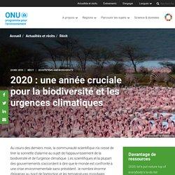 2020 : une année cruciale pour la biodiversité et les urgences climatiques
