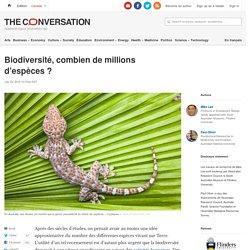Biodiversité, combien de millions d'espèces ?