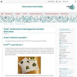 """Projet """"biodiversité et développement durable"""" 6ème-5ème"""