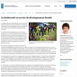 La biodiversité au service du développement durable