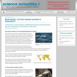 Biodiversité : et si les oiseaux venaient à disparaître? - Science Actualités.fr