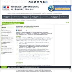 Biodiversité et changement climatique - Ministère de l'Environnement, de l'Energie et de la Mer
