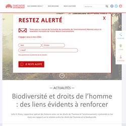 Biodiversité et droits de l'homme : des liens évidents à renforcer
