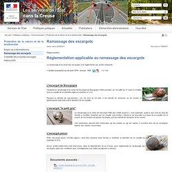 PREFECTURE DE LA CREUSE - Réglementation applicable au ramassage des escargots