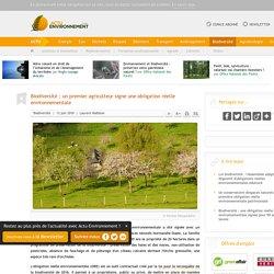 Biodiversité: un premier agriculteur signe une obligation réelle environnementale
