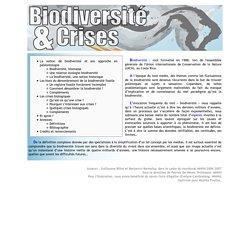 MNHN/ Biodiversité et crise
