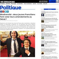 Biodiversité : deux jeunes Franciliens font voter leurs amendements au Sénat !