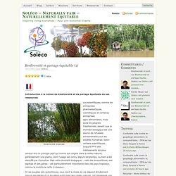 Biodiversité et partage équitable (1)