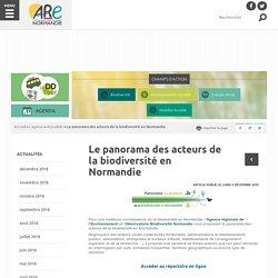 Le panorama des acteurs de la biodiversité en Normandie