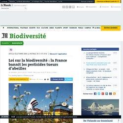 Loi sur la biodiversité: la France bannit les pesticides tueurs d'abeilles
