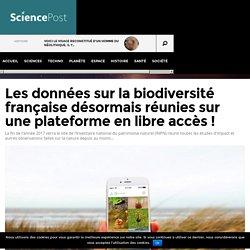 Les données sur la biodiversité française désormais réunies sur une plateforme en libre accès