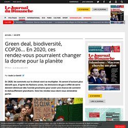 Green deal, biodiversité, COP26... En 2020, ces rendez-vous pourraient changer la donne pour la planète