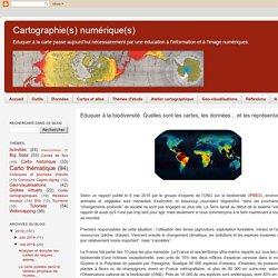 Eduquer à la biodiversité. Quelles sont les cartes, les données... et les représentations ?