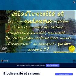 Biodiversité et saisons by Mme Freydt on Genially