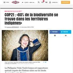 COP21: «80% de la biodiversité se trouve dans les territoires indigènes»