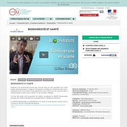 Biodiversité et santé - Université Paris 1 Panthéon-Sorbonne