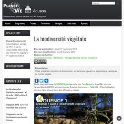 La biodiversité végétale