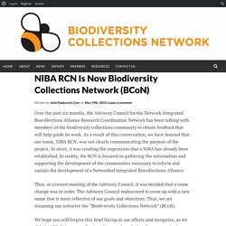 Biodiversity Collections Network (BCoN)