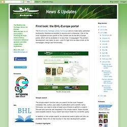 the BHL-Europe portal