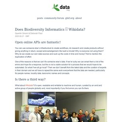 Does Biodiversity Informatics □ Wikidata? - GBIF Data Blog