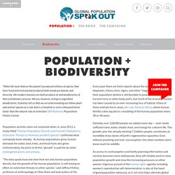 Biodiversity - Population Speak Out