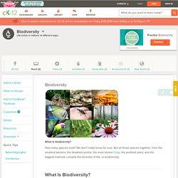 Biodiversity ( Read )