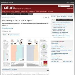 Biodiversity: Life – a status report