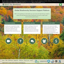 Integrated Biodiversity Assessment Tool - Subscription