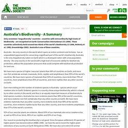 Australia's Biodiversity - A Summary