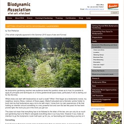 Biodynamic Association and Demeter in the UK: Getting started with biodynamic gardening