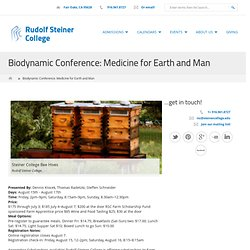 Biodynamic Conference: Medicine for Earth and Man