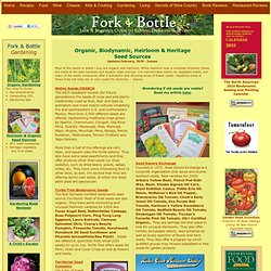 Fork & Bottle: Seed Sources - Organic, Biodynamic, Heirloom & Heritage Seed Sources