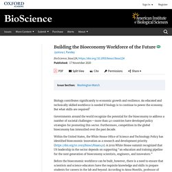 Building the Bioeconomy Workforce of the Future