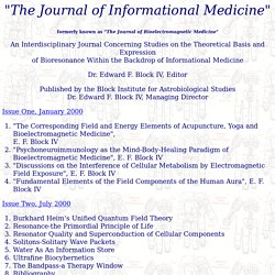 the journal of bioelectromagnetic medicine