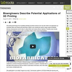 Bioengineers Describe Potential Applications of 3D Printing Trending