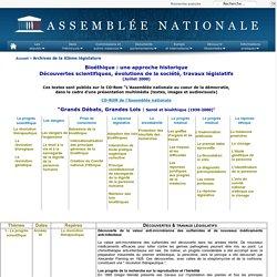 Assemblée nationale : bioéthique, eugénisme : approche historique