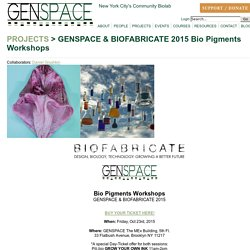 Genspace - Project - GENSPACE & BIOFABRICATE 2015 Bio Pigments Workshops