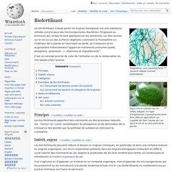 WIKIPEDIA – Biofertilisant.