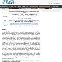 Disodium Hydrogen Orthophosphate and Sodium Nitrate