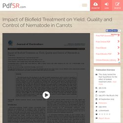 Analysis of Yield Improvement in Carrots