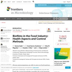 FRONT. MICROBIOL 07/05/18 Biofilms in the Food Industry: Health Aspects and Control Methods