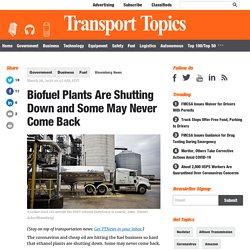 Biofuel Plants Are Shutting Down