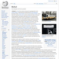 Biofuel - Wikipedia, the free encyclopedia - (Build 201004010646