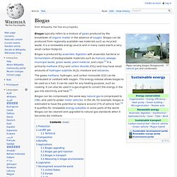 Biogas - Wikipedia, the free encyclopedia - (Build 2010040106463