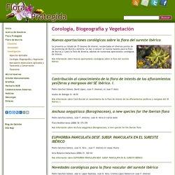 Corología, Biogeografía y Vegetación