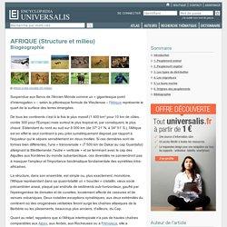 Biogéographie - AFRIQUE