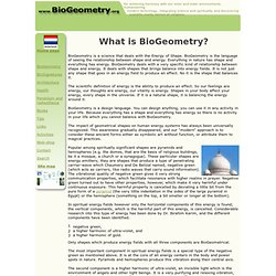 BioGeometry - science of Energy of Shape