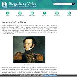 Biografia de Antonio José de Sucre