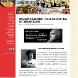 Biografia de Julieta Lanteri Mujeres Argentinas Defensora Derechos