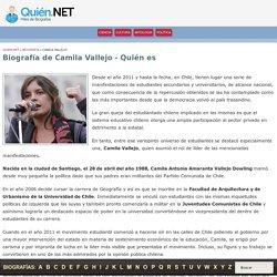 Biografía de Camila Vallejo » Quien es » Quien.NET